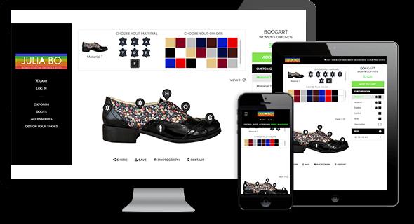 JuliaBo – Shoe Customizing Website
