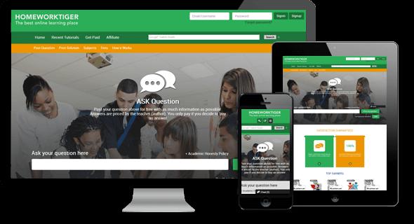 Online tutoring website