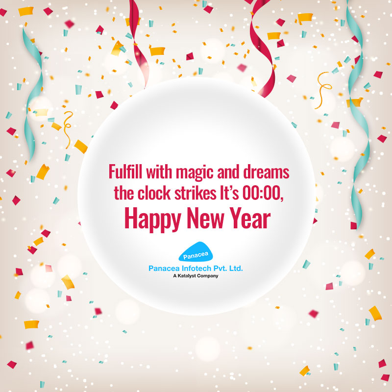 Fulfill with magic and dreams the clock strikes It's 00:00, Happy New Year!!!