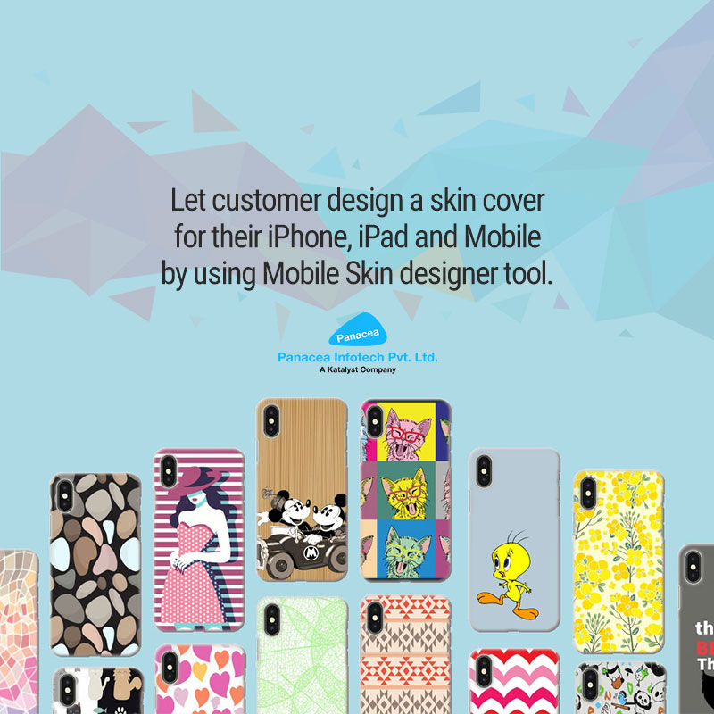 Let customer design a skin cover for their iPhone, iPad and Mobile by using Mobile Skin designer tool.