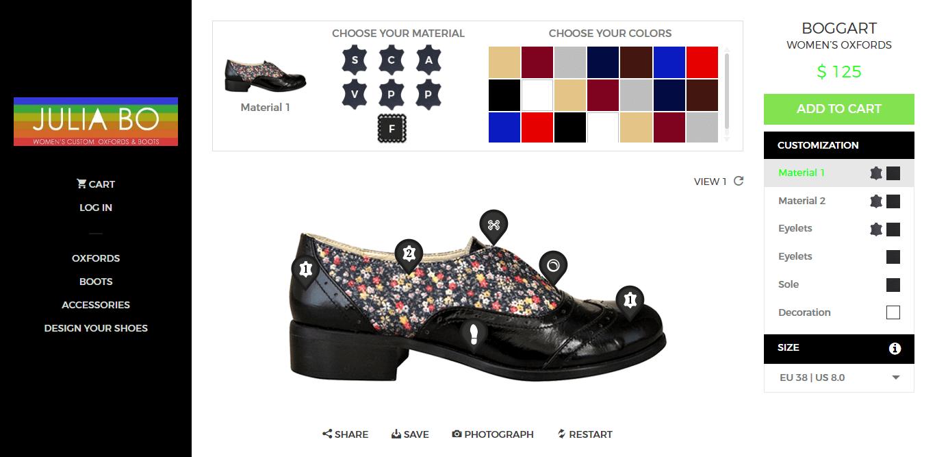 jubliabo – Platform for shoe customization