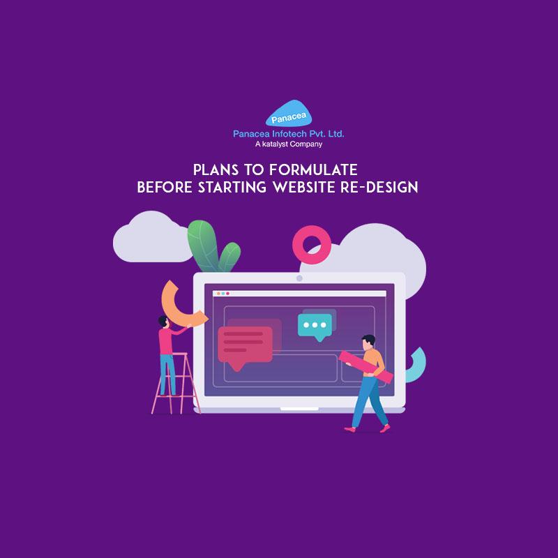 Plans to Formulate before starting Website Re-Design